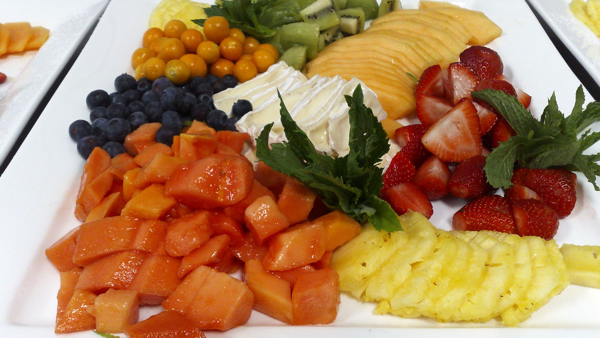 Corporate ambrosia catering for Canape platters cape town