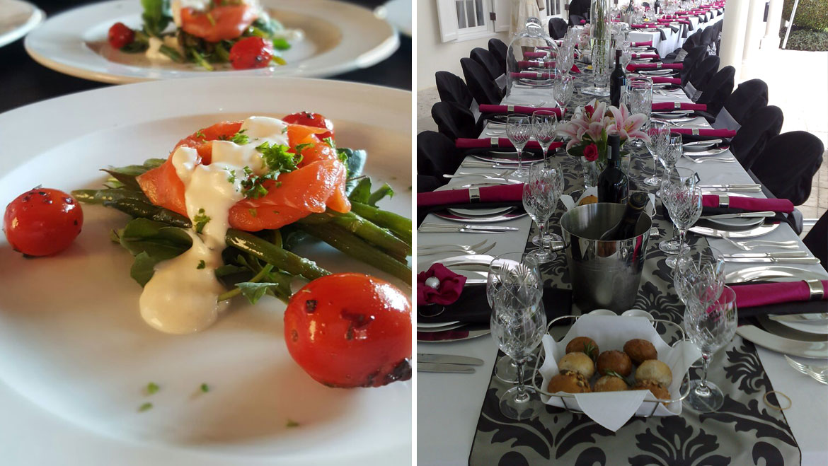 Weddings ambrosia catering for Canape platters cape town