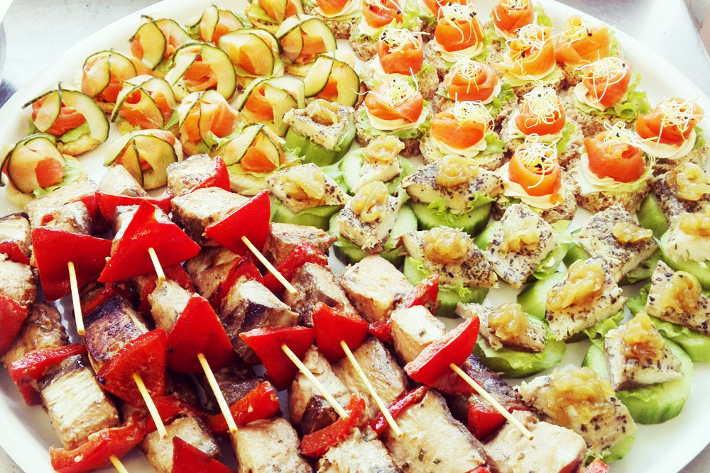 Contemporary platters ambrosia catering for Canape platters cape town